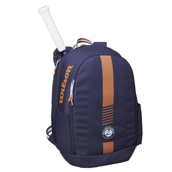 Wilson Roland Garros Team Backpack (Navy/Orange) - RacquetGuys