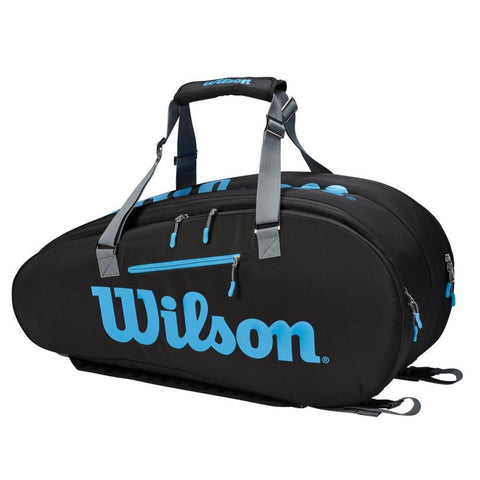 Wilson Ultra 9 Pack Racquet Bag (Black/Blue/Silver) - RacquetGuys