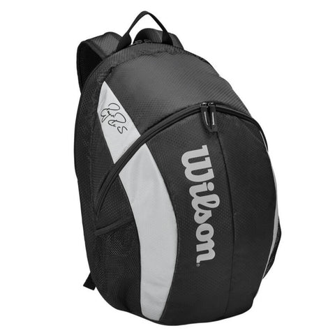 Wilson RF Team Backpack Racquet Bag (Black/White) - RacquetGuys