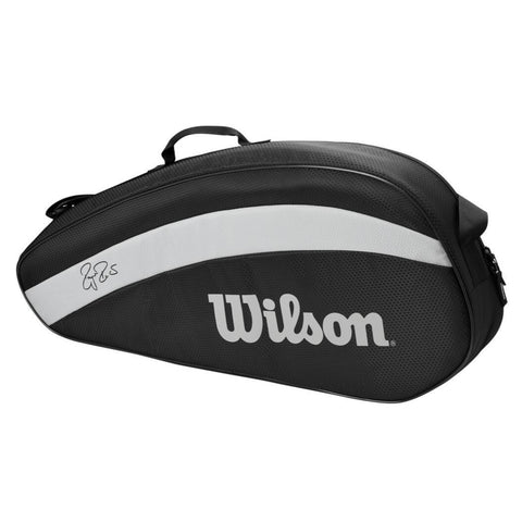 Wilson RF Team 3 Pack Racquet Bag (Black/White) - RacquetGuys