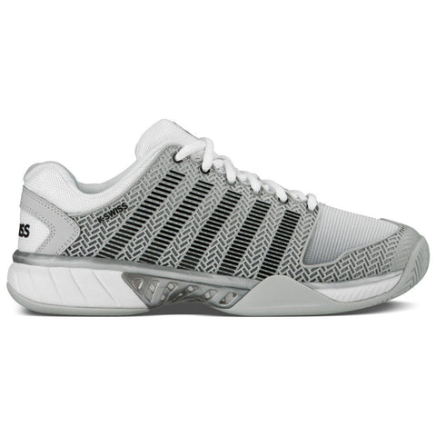 K-Swiss Hypercourt Express Men's Tennis Shoe (Grey/White/Silver) - RacquetGuys