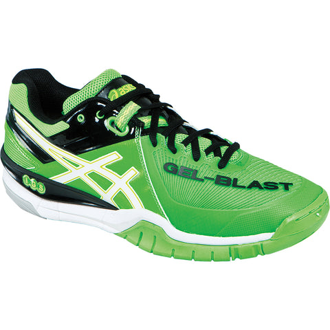 Asics Gel Blast 6 Mens Indoor Court Shoe (Green/White/Black) - RacquetGuys