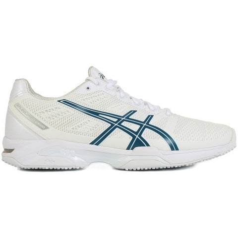 Asics Solution Speed 2 Mens Grass Court Tennis Shoe (White/Blue/Silver) - RacquetGuys