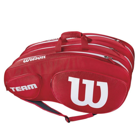 Wilson Team III 12 Pack Racquet Bag (Red) - RacquetGuys