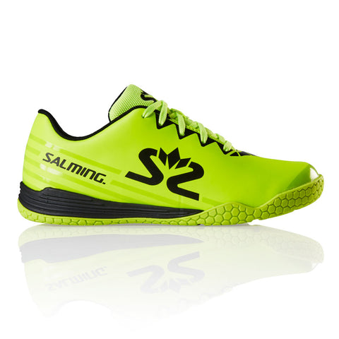 Salming Spark Junior Indoor Court Shoe (Safety Yellow/Black) - RacquetGuys