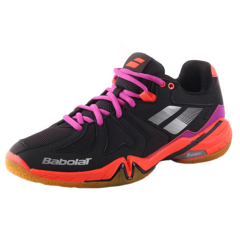 Babolat Shadow Spirit Women's Indoor Court Shoe (Black/Violet/Pink) - RacquetGuys