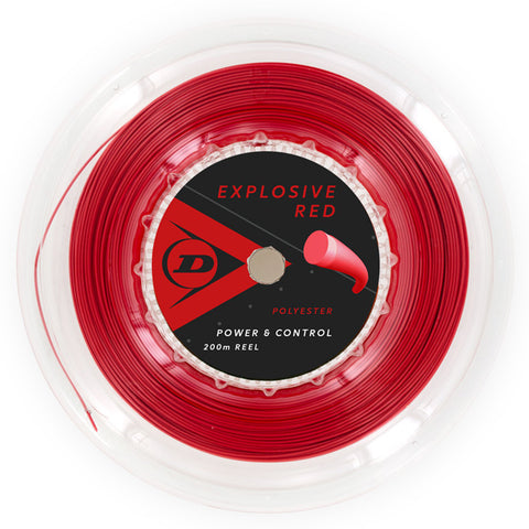 Dunlop Explosive Red 16 G Tennis String Reel (Red) - RacquetGuys
