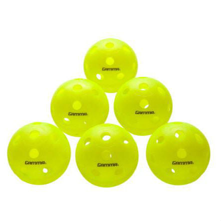 Gamma Photon Indoor Pickleball Green (Pack of 6) - RacquetGuys