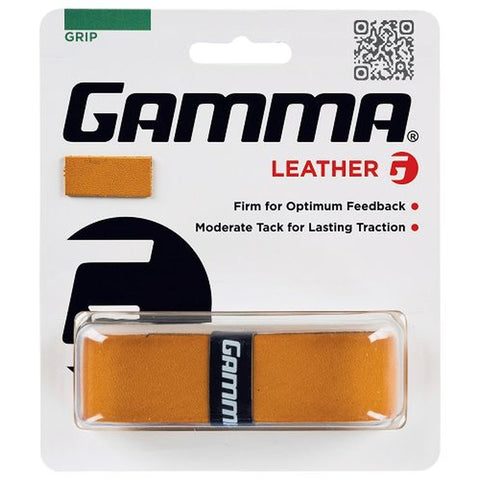 Gamma Leather Replacement Grip (Natural) - RacquetGuys.ca