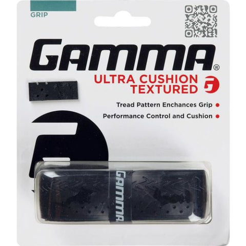 Gamma Ultra Cushion Textured Replacement Grip (Black) - RacquetGuys.ca