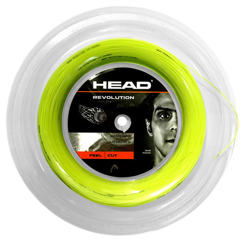Head Revolution 17 Squash String Mini Reel (Yellow) - RacquetGuys.ca