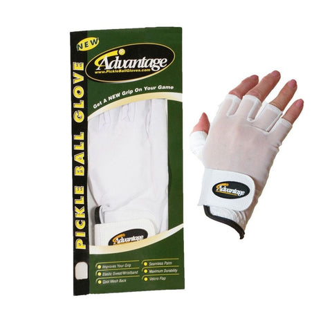 Advantage Pickleball Unisex Half Finger Left Hand Glove - RacquetGuys