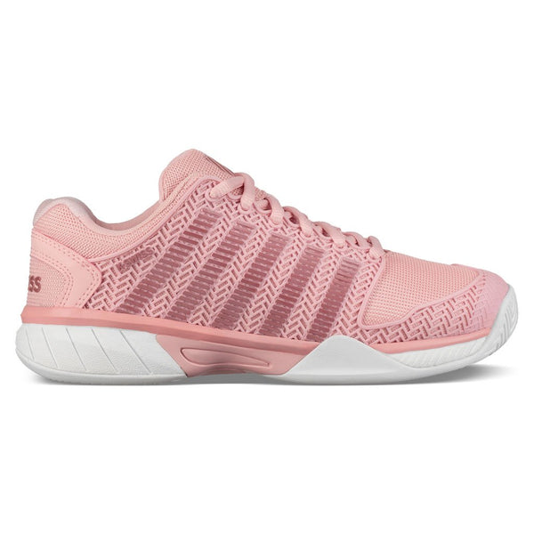 K-Swiss Hypercourt Express Junior Tennis Shoe (Coral Blush/White) - RacquetGuys