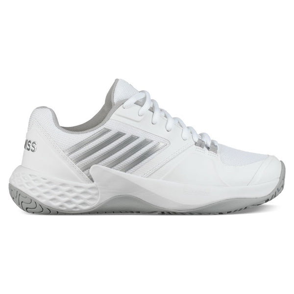 K-Swiss Aero Court Women's Tennis Shoe (White/Silver) - RacquetGuys