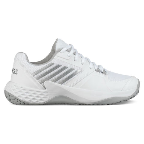 K-Swiss Aero Court Women's Tennis Shoe (White/Silver) - RacquetGuys.ca