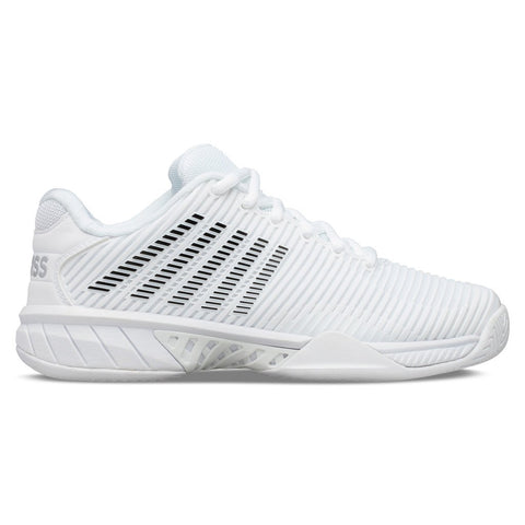 K-Swiss Hypercourt Express 2 Women's Tennis Shoe (White/Black) - RacquetGuys