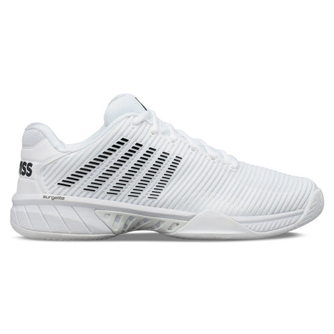 K-Swiss Hypercourt Express 2 Men's Tennis Shoe (White/Black) - RacquetGuys