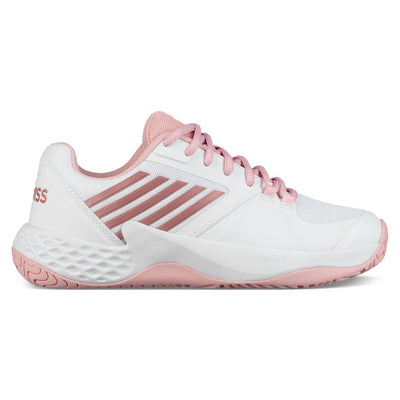 K-Swiss Aero Court Women's Tennis Shoe (White/Coral Blush)