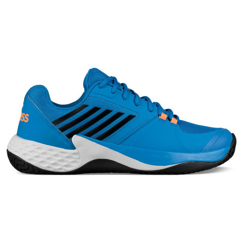 K-Swiss Aero Court Men's Tennis Shoe (Brilliant Blue/Neon Orange)