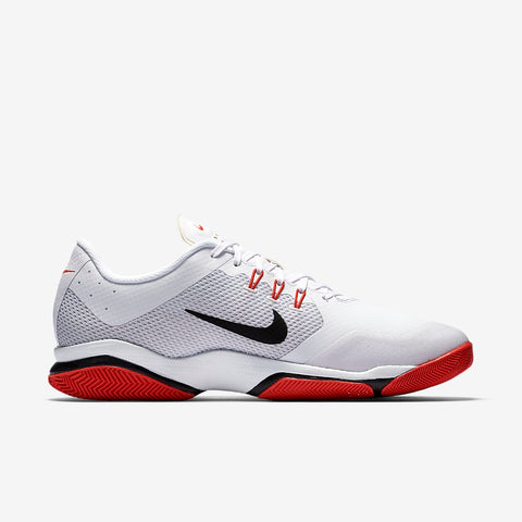 Nike Air Zoom Ultra Men's Tennis Shoe (White/Black/Orange) - RacquetGuys