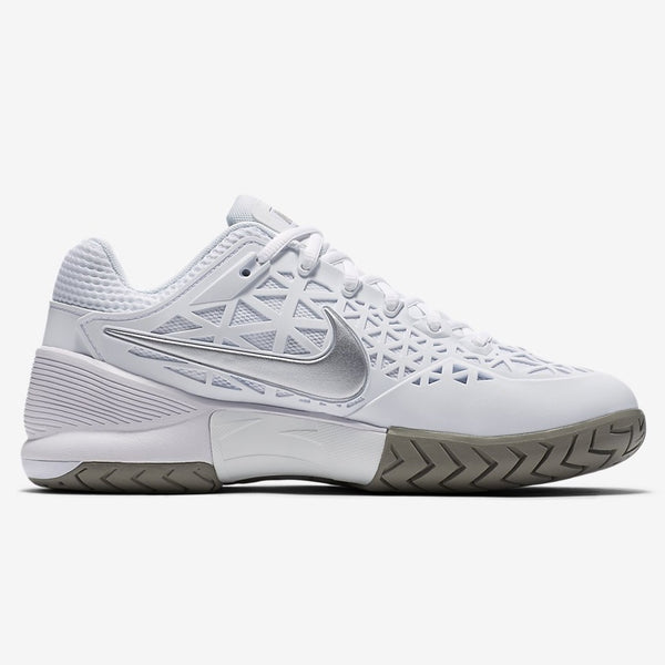 Nike Zoom Cage 2 Women's Tennis Shoe (White/Silver)