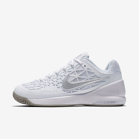 Nike Zoom Cage 2 Women's Tennis Shoe (White/Silver) - RacquetGuys