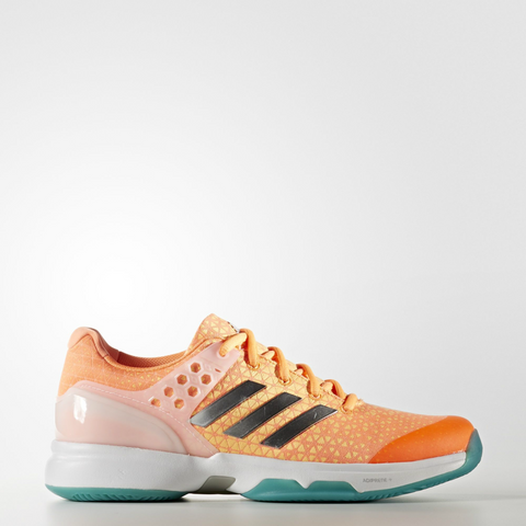 adidas Adizero Ubersonic 2 Women's Tennis Shoe (Orange/Silver/Green)
