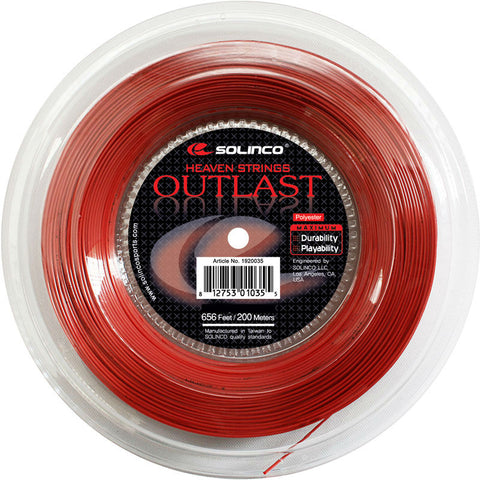 Solinco Outlast 18 Tennis String Reel (Red)