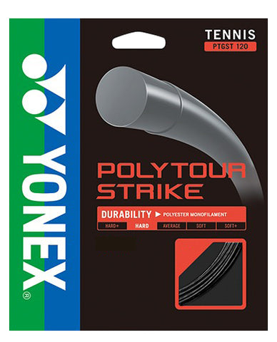 Yonex Poly Tour Strike 16 Tennis String (Black) - RacquetGuys