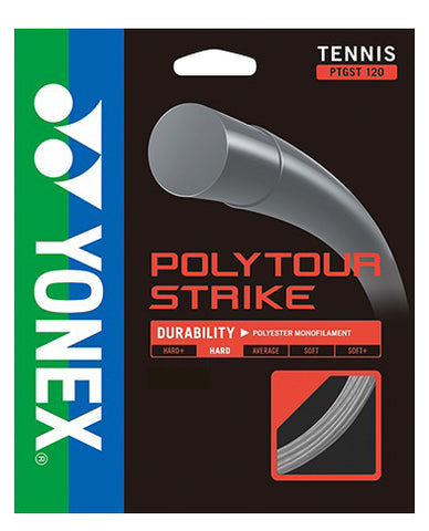 Yonex Poly Tour Strike 16L Tennis String (Grey) - RacquetGuys