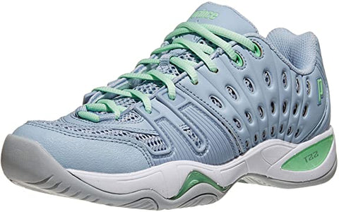 Prince T22 Women's Tennis Shoe (Blue/Mint) - RacquetGuys