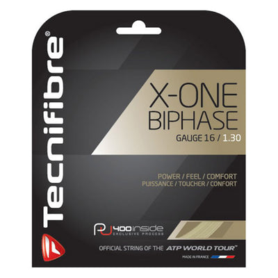 Tecnifibre X-One Biphase 16 Tennis String (Natural)