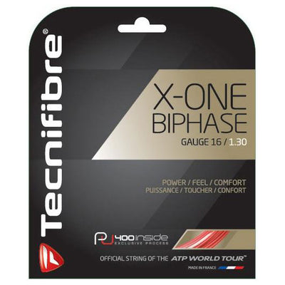Tecnifibre X-One Biphase 16 Tennis String (Red)