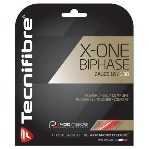 Tecnifibre X-One Biphase 16 Tennis String (Red) - RacquetGuys