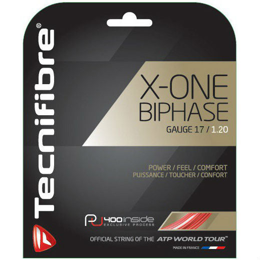 Tecnifibre X-One Biphase 17 Tennis String (Red) - RacquetGuys