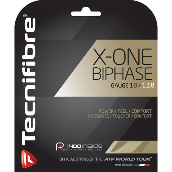 Tecnifibre X-One Biphase 18 Tennis String (Natural) - RacquetGuys