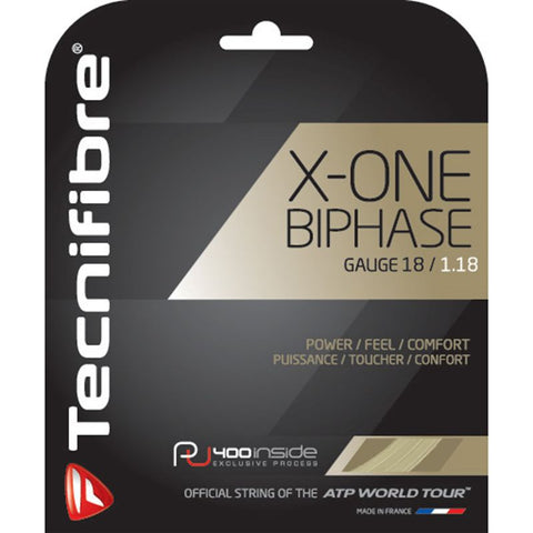 Tecnifibre X-One Biphase 18 Tennis String (Natural)