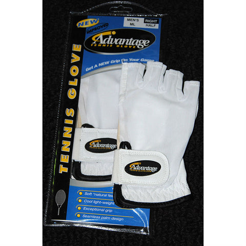 Advantage Tennis Glove Half Finger Left Mens - RacquetGuys