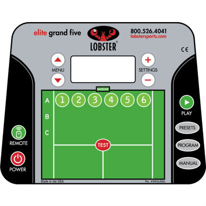 Lobster Elite Grand V Limited Edition Portable Ball Machine - RacquetGuys