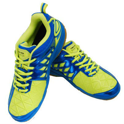Harrow Vortex Mens Indoor Court Shoe (Green/Blue) - RacquetGuys