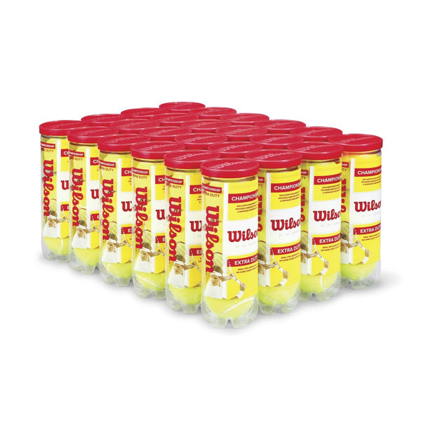 Wilson Championship Extra Duty Tennis Balls 24 Can Case - RacquetGuys