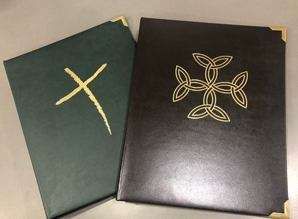 Liturgy Celebration Folder Freehand Cross, Green colour - Liturgy Brisbane