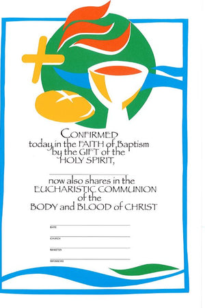 Confirmation - First Communion Certificate - Liturgy Brisbane