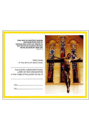 Penance: First Reconciliation Certificate - Liturgy Brisbane