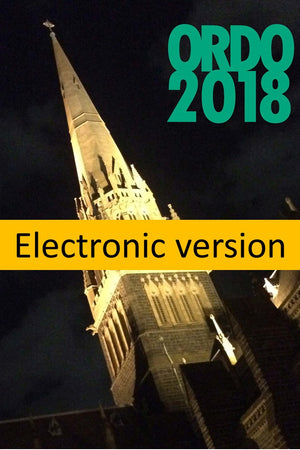 Ordo 2018 Electronic Version - Liturgy Brisbane