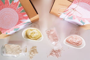 Exfoliating Mask Gift Box -Pink Clay Rosehip & Olive Green Clay Bamboo 50g