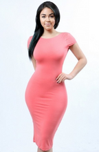 Coral Dress w/ Sexy Low-Cut Zipper Back girlfriendz boutique