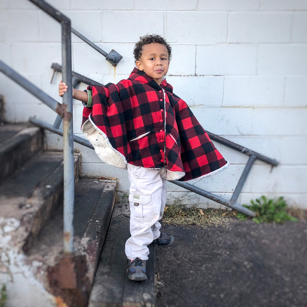 Poncho Buffalo Plaid