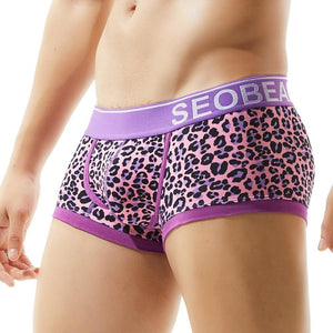 SEOBEAN Leopard Print Boxer Brief - 💦Spunk Trunks