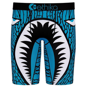 ETHIKA Blue Shark Athletic Boxer Brief - 💦Spunk Trunks
